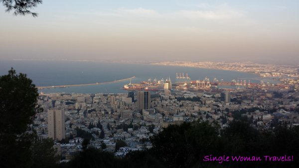 View of Haifa port in Israel