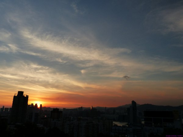 Sunrise over Hong Kong Island