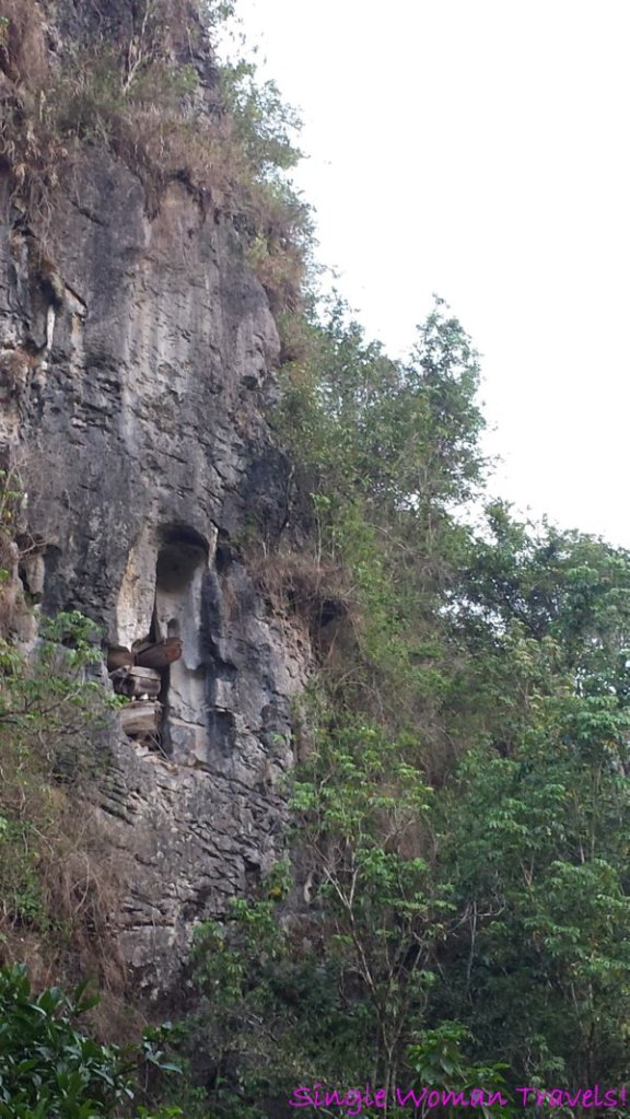 Coffins found in crevices of cliffs in Sagada Philippines