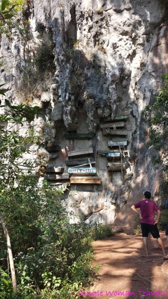 The famous hanging coffins found in Echo Valley Sagada Philippines